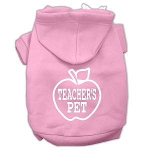Teachers Pet Screen Print Pet Hoodies Light Pink Size XXXL(20)