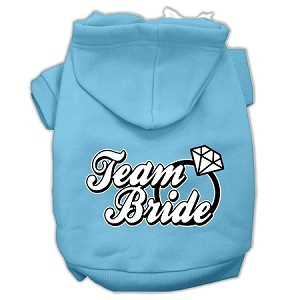 Team Bride Screen Print Pet Hoodies Baby Blue Size XXXL (20)