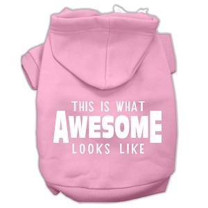 This is What Awesome Looks Like Dog Pet Hoodies Light Pink Size XL (16)