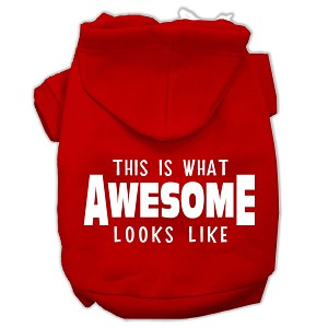 This is What Awesome Looks Like Dog Pet Hoodies Red Size Sm (10)