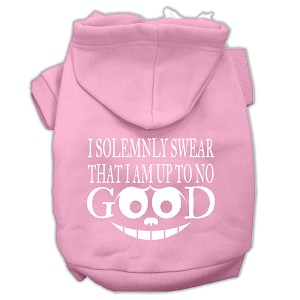 Up to No Good Screen Print Pet Hoodies Light Pink Size XXXL (20)