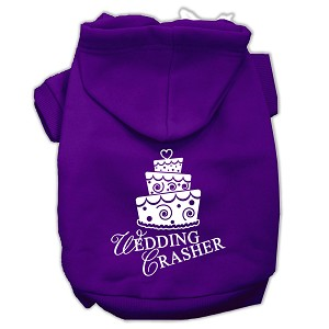 Wedding Crasher Screen Print Pet Hoodies Purple Size Lg (14)