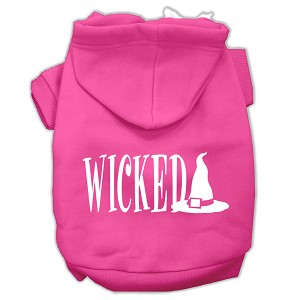 Wicked Screen Print Pet Hoodies Bright Pink Size XXXL(20)