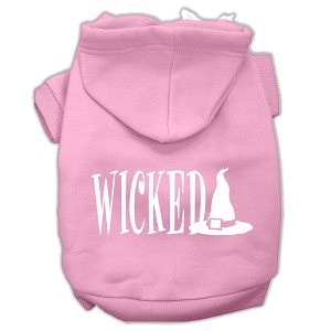 Wicked Screen Print Pet Hoodies Light Pink Size M (12)