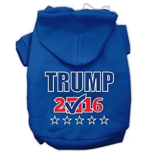 Trump Checkbox Election Screenprint Pet Hoodies Blue Size M (12)