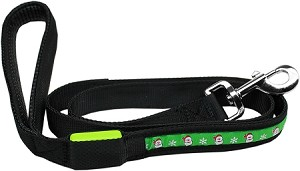 LED Dog Leash Santa 1 inch wide by 4 Feet