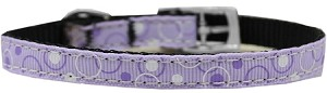 Retro Nylon Dog Collar with classic buckle 3/8