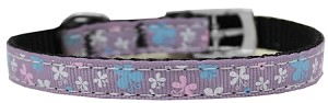 Butterfly Nylon Dog Collar with classic buckle 3/8