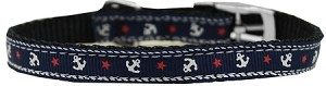 Anchors Nylon Dog Collar with classic buckle 3/8