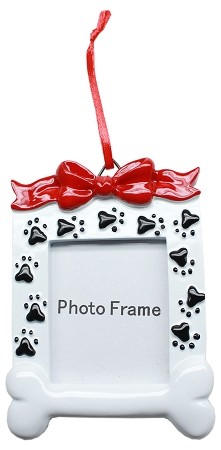 Paw Print Picture Frame Christmas Ornament