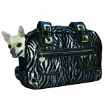 Metallic Zebra Rock Airline Pet Carrier