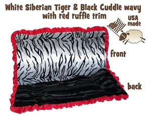 White Siberian Tiger Full Size Pet Blanket