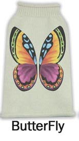 Butterfly Pet Sweater Size LG