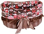 Funky Monkey Reversible Snuggle Bugs Pet Bed, Bag, and Car Seat All-in-One