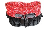 Red Western Reversible Snuggle Bugs Pet Bed, Bag, and Car Seat All-in-One