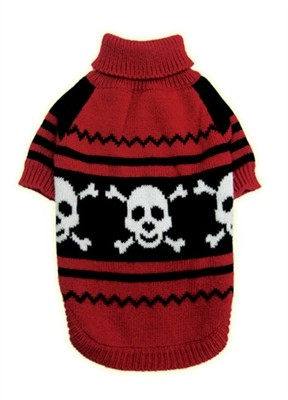 Happy Skull Pet Sweater Size XS