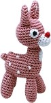 Knit Knacks Rudy the Reindeer Organic Cotton Small Dog Toy
