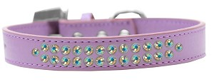 Two Row AB Crystal Size 20 Lavender Dog Collar
