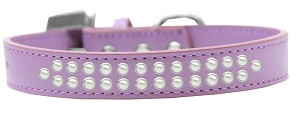 Two Row Pearl Size 14 Lavender Dog Collar