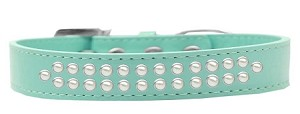Two Row Pearl Size 14 Aqua Dog Collar