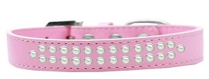 Two Row Pearl Size 20 Light Pink Dog Collar