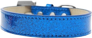 Lincoln Plain Ice Cream Dog Collar Blue Size 18