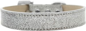 Lincoln Plain Ice Cream Dog Collar Silver Size 12