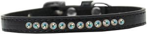 AB Crystal Size 12 Black Puppy Collar