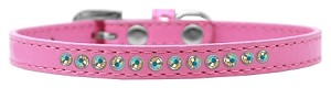 AB Crystal Size 16 Bright Pink Puppy Collar