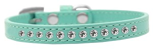 Clear Crystal Size 12 Aqua Puppy Collar