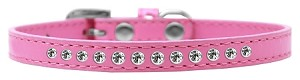 Clear Crystal Size 16 Bright Pink Puppy Collar