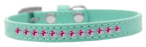 Bright Pink Crystal Size 8 Aqua Puppy Collar