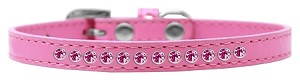Bright Pink Crystal Size 14 Bright Pink Puppy Collar
