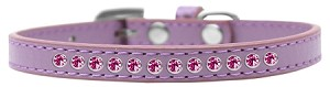 Bright Pink Crystal Size 16 Lavender Puppy Collar