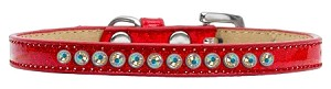 AB Crystal Size 12 Red Puppy Ice Cream Collar