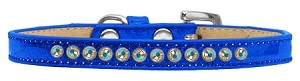 AB Crystal Size 14 Blue Puppy Ice Cream Collar