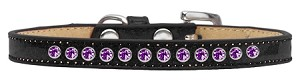 Purple Crystal Size 10 Black Puppy Ice Cream Collar