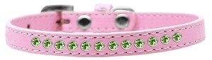 Lime Green Crystal Size 8 Light Pink Puppy Collar