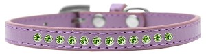 Lime Green Crystal Size 16 Lavender Puppy Collar