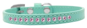 Light Pink Crystal Size 8 Aqua Puppy Collar