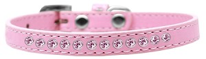 Light Pink Crystal Size 8 Light Pink Puppy Collar