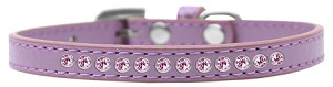 Light Pink Crystal Size 8 Lavender Puppy Collar
