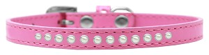Pearl Size 14 Bright Pink Puppy Collar