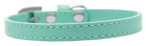Omaha Plain Puppy Collar Aqua Size 16
