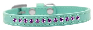 Purple Crystal Size 14 Aqua Puppy Collar