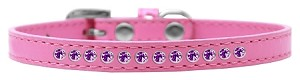 Purple Crystal Size 16 Bright Pink Puppy Collar