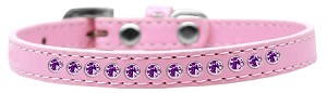 Purple Crystal Size 12 Light Pink Puppy Collar