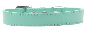 Tulsa Plain Dog Collar Aqua Size 16