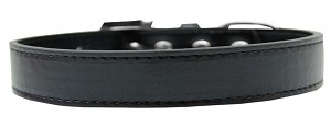 Tulsa Plain Dog Collar Black Size 12