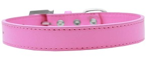 Tulsa Plain Dog Collar Bright Pink Size 20